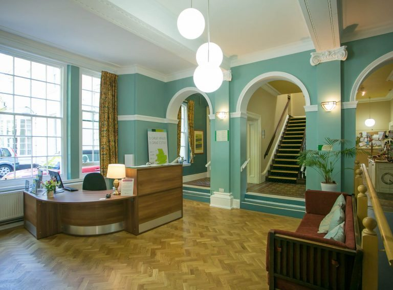 Woodbrooke reception area