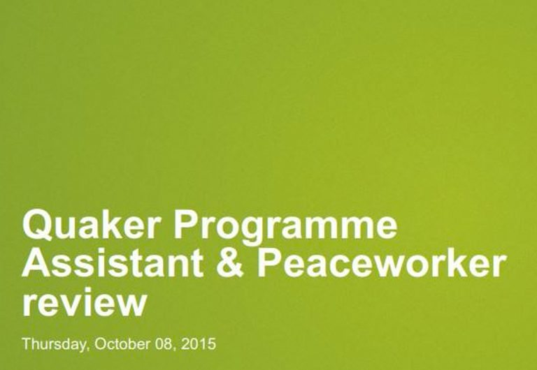 European Quaker peaceworker schemes